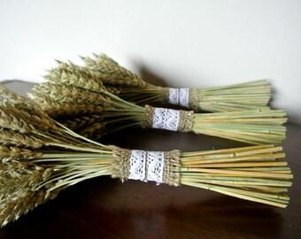 Dried Rye Bouquet, Rustic Barn Bouquet, Grain Ear Natural Eco Decor , Dried Flower Bouquet, Rustic Wedding Decor