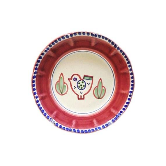 Decorative Wall Plates Italian : Items similar to italian ceramic bird dish decorative