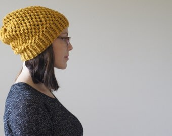 The -MUST HAVE- Hand Crocheted Perfectly Slouchy Beanie Hat