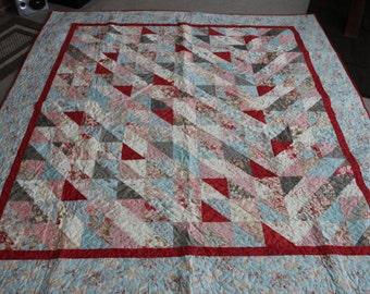 78 x 84 Papillon Homemade Quilt