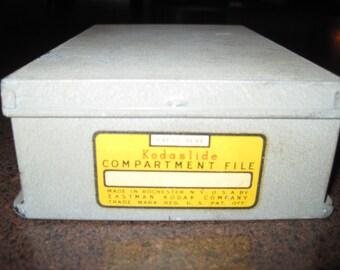 Vintage metal Kodaslide compartment file for slides