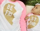 Best Friends Raglan; Mommy & Me shirts; Baseball tee; 3/4 sleeve raglan