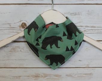 Bandana Bib~Forest Bear~ Reversible~ Baby Gift