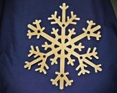 Wooden Snowflake Shapes - 8""