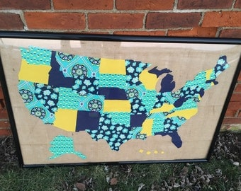 United States Map Wallhanging/Quilt