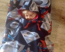 Superman Toddler Carseat Poncho