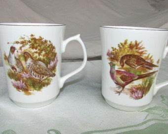 2 Jason Works Nanrich Pottery~fine bone china Staffordshire England~Cup~Birds