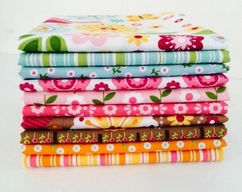 1/2 Yard Bundle Summer Song 2 by Zoe Pearn for Riley Blake Designs 10 Fabrics