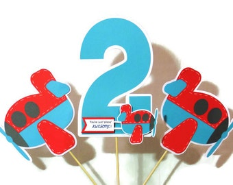 Airplane Centerpieces - Perfect for a Birthday or Baby Shower