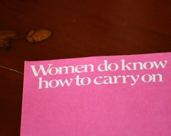 Women Do Know How To Carry On Keep Calm and Carry On Paper Decorative Scarp booking