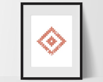 Tribal Wall Art, Pink Wall Art, Tribal Print Art, Tribal Artwork, Tribal Home Decor, Tribal Wall Decor, Home Office, Tribal Decor, Prints