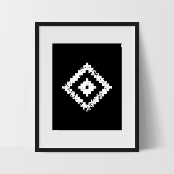 Tribal Print Art Artwork Home Decor Modern Print Wall