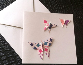 Greeting card, origami Butterfly