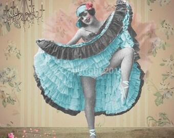 Dancer  Victorian Ephemera Vintage Original Ballet Printable Digital Collage Print Altered Art Scrapbook Page Vintage Instant Download