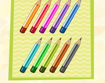 Pencil Clip Art School Pack
