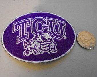 TCU Horned Frogs embroidered patches old stock glue or sew