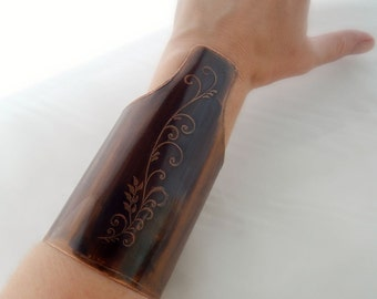 Cuff Bracelet, bracelet copper, medieval, copper oxidized, engravings, medieval copper.