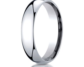 14kt White Gold Comfort Fit Wedding Ring 5mm, 5mm Wedding band, 5mm Wedding Ring, Comfort fit band, 5mm comfort fit ring,