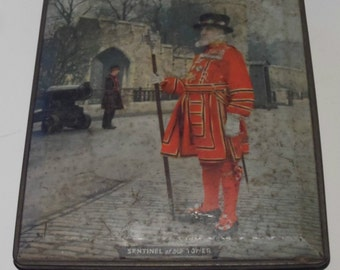 Sentinel of the Tower London Vintage Edward Sharp Empty Confectionery Tin