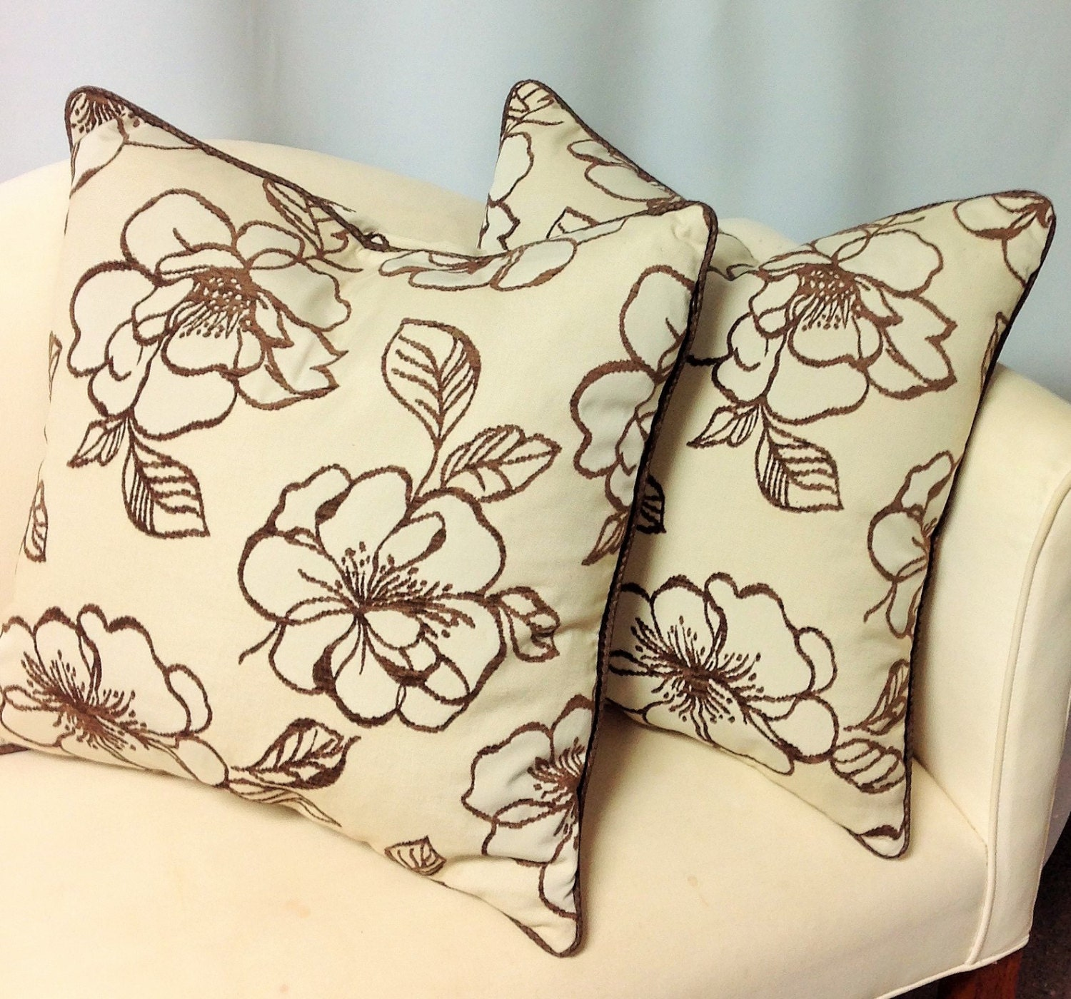 How To Make Decorative Pillows With Cording : Decorative Pillow W/ Cording Invisible Zipper Down Insert