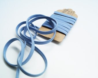 1 meter spaghetti Frou Frou slate blue and grey  ribbon, 7 mm