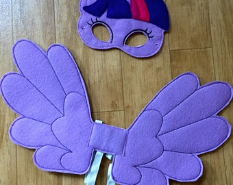 Sparkle Pony Mask And Wing Set for Dress Up, Cosplay, Costume
