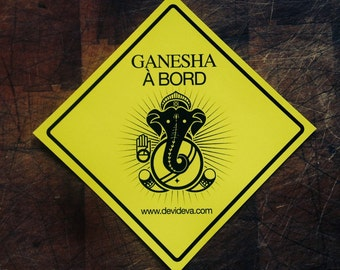 sticker Ganesha on board. To remove obstacles on your way!