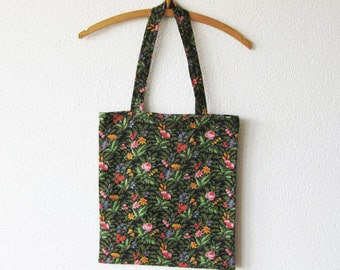 Tote Bag Floral Vintage Fabric Handmade and Sustainable