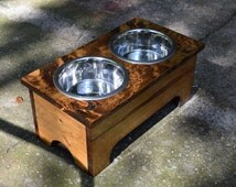 Unique Dog Bowl Stand Related Items Etsy