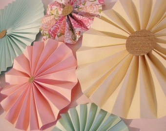 Paper Rosettes set of 6... Pick your colors // Party Decorations