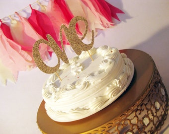 One Letter Birthday Party Cake Topper