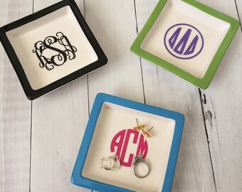 Monogrammed/Personalized Square Catch All Tray