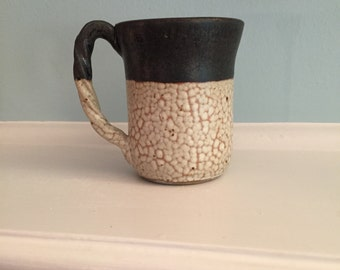 8 oz coffee cup. Handmade tea cup. Stoneware coffee mug. Wheel thrown mug. Fired in a gas kiln. Black tea cup. White coffee cup. Lead free