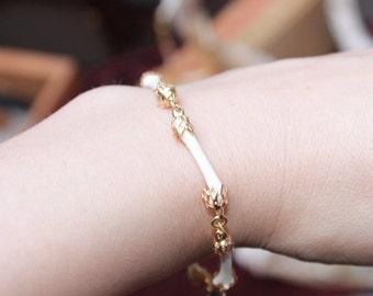 tiny bones memento mori bracelet
