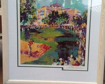 Leroy Neiman Framed '79 Golf Print Hand signed lithograph