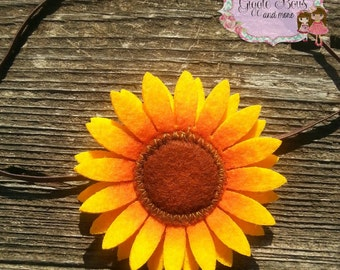 Sunflower headband, baby headband, sunflower, autumn headband, fall headband, fall, autumn, sunflower baby headband, autumn baby headband