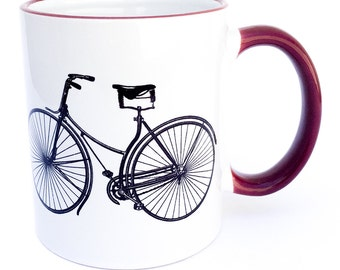 Vintage bicycle coffee mug