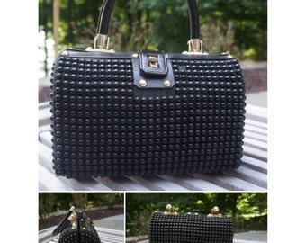 VTG '60s Black BB Top Handle Bag