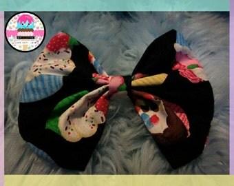 Ice Cream Cutie hair bow. Kawaii, Lolita, Fairy Kei. Small, Medium and large