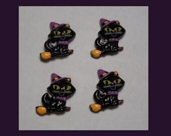 Black Cat set of 4