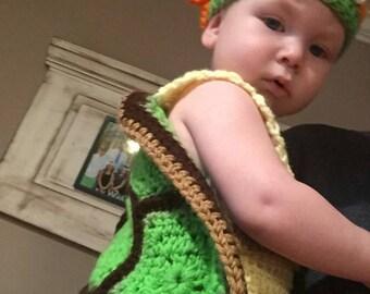 hand crocheted teenage mutant ninja turtles costumes
