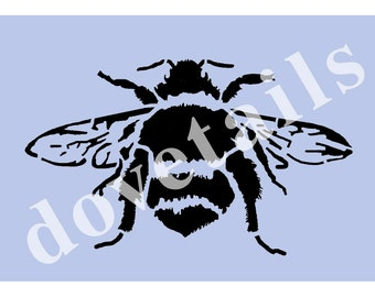 Bee Stencil A5 Stencil (8' x 5 3/4') - Bumble Bee  for Furniture Painting Projects, Glass, Walls, Signs 003