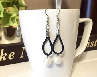 Leather & Bead earring~
