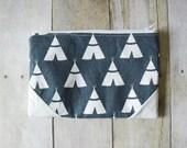 Vegan leather bag - Small clutch - Single pocket clutch - Minimalist clutch - Zippered clutch - Bridesmaid gift