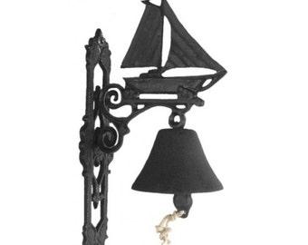 Cast Iron Garden Bell - Sailboat