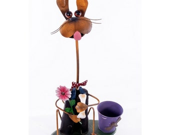 Dog and Bone Garden Plant Pot