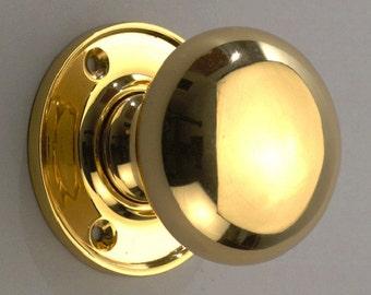 Round Knob Polished Brass