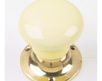 Light Yellow Ceramic Door Knob