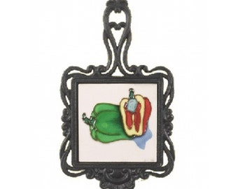 Square Trivet C/W Peppers