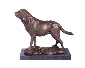 Lockwood Park Bronze Dog on Plinth Statue